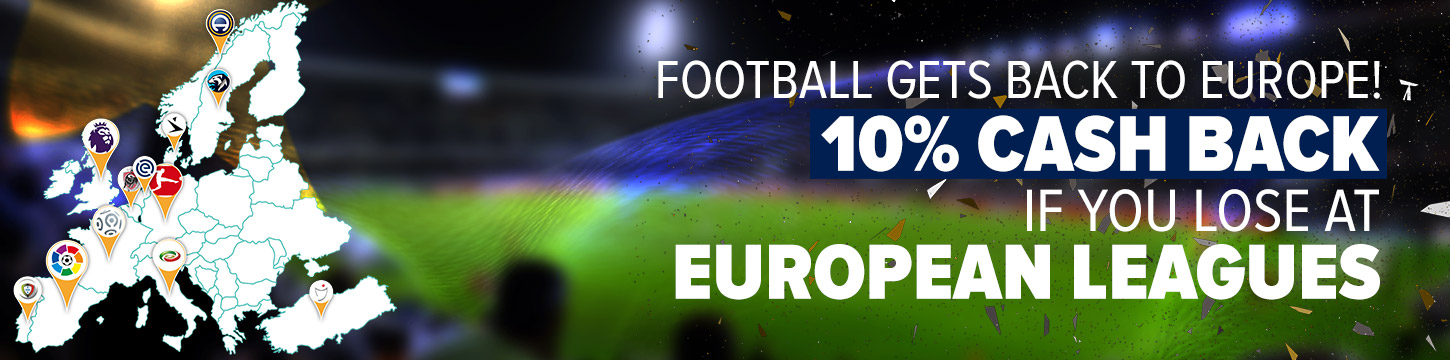 10% cash back if you lose at European Leagues