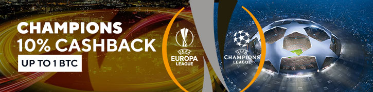 10% cash back if you lose at Uefa Champions Leagues